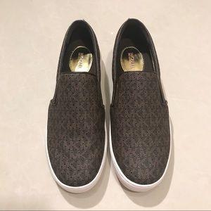 Michael Kors MK Perforated Logo Slip-On Sneakers